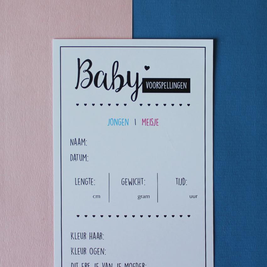 Baby voorspellingskaarten Hebbers