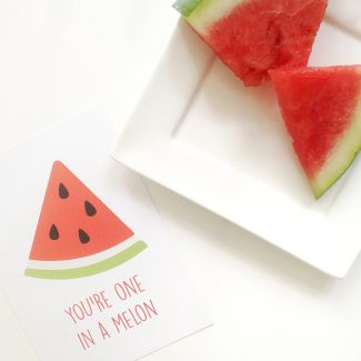 Hebbers kaart you're one in a melon