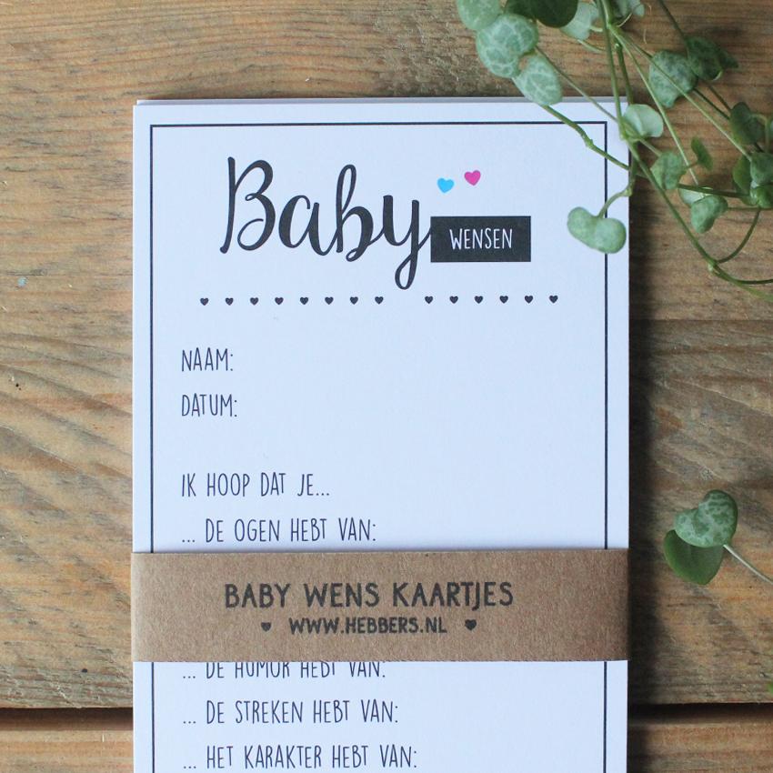 Populair Baby wenskaarten | babyshower invulkaarten | Hebbers &KQ88