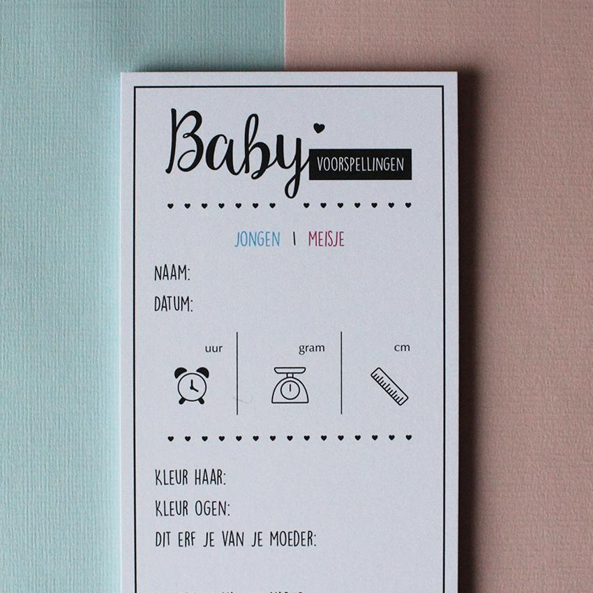Hebbers baby voorspellingskaarten