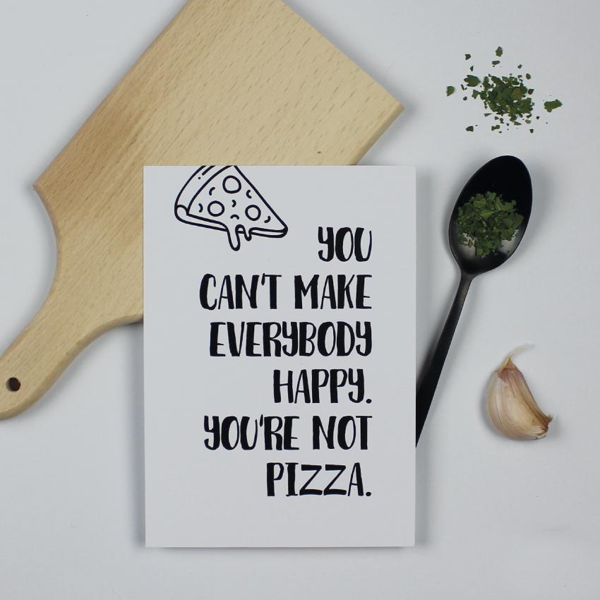 Hebbers kaart you're not pizza