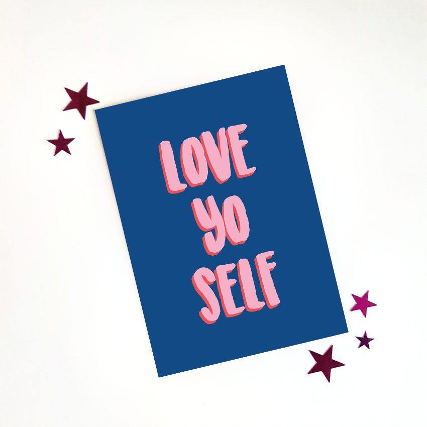 Hebbers kaart Love yo self