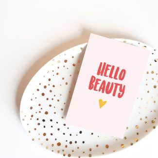 Mini kaart Hello Beauty Stralen Hebbers