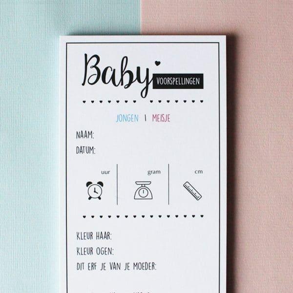 baby voorspellingskaarten