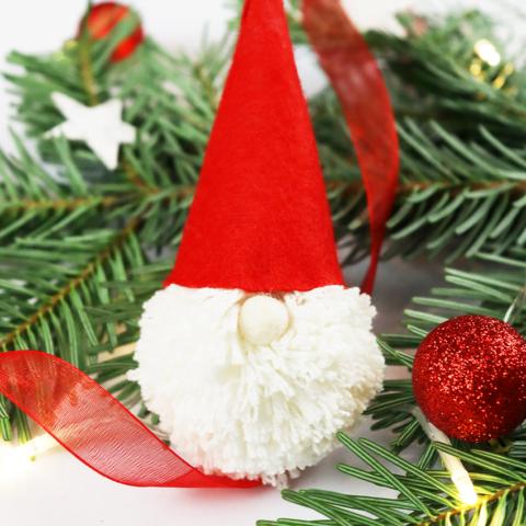 Maak je eigen kerstman voor in de boom