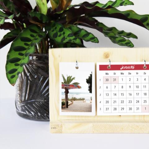 Je persoonlijke jaarkalender van hout
