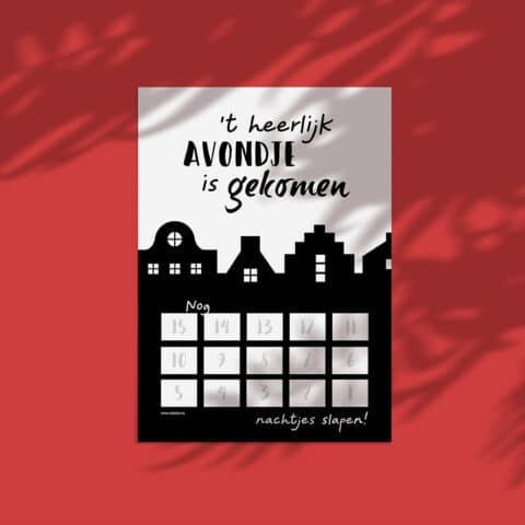 De leukste aftelkalender voor Sinterklaas