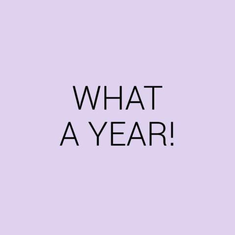 What a year! Terugblikken op 2020