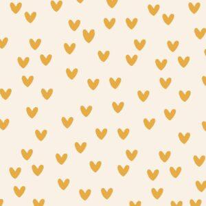 Inpakpapier inpakvel gele hartjes Hebbers