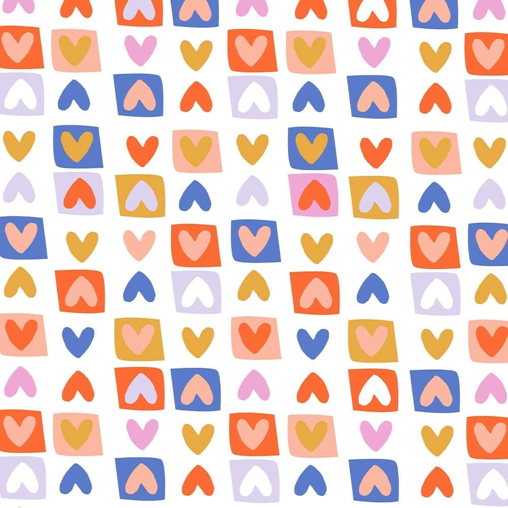 Inpakpapier inpakvel kleurrijk hartjes Hebbers