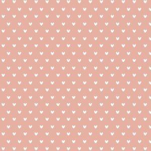 Inpakpapier inpakvel roze hartjes Hebbers